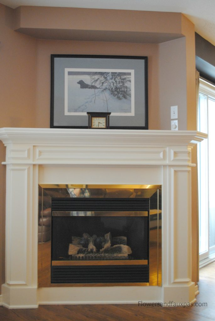 home tour living room fireplace